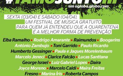 Festival #tamojunto já teve 85 artistas e mais de 3,3 milhões de acessos